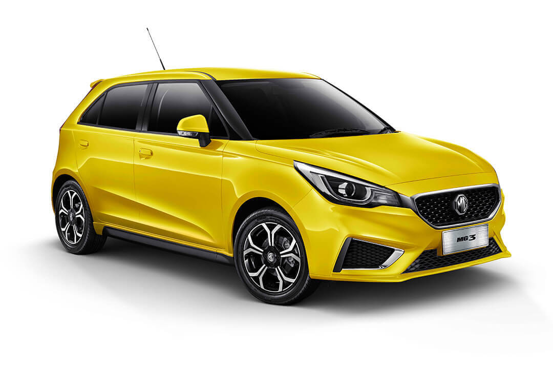 MG 3 Excite render finished in yellow