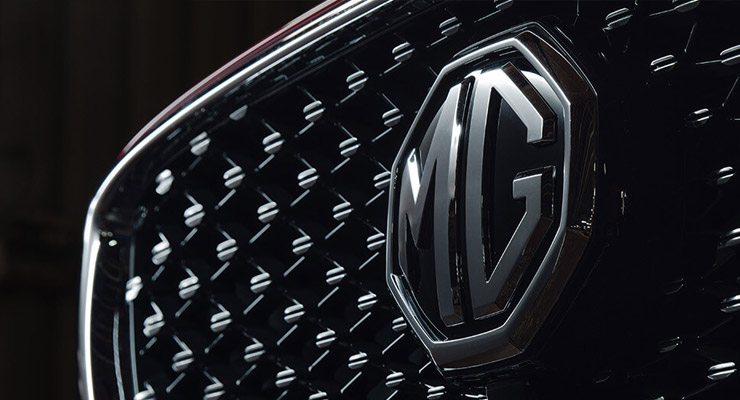 MG front grille and logo