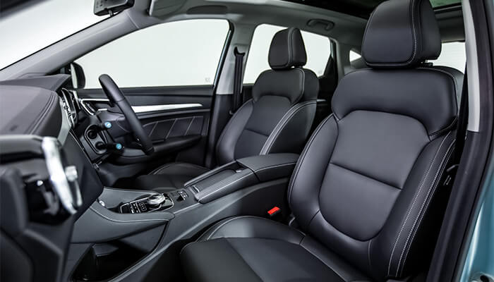 MG ZS EV leather effect interior